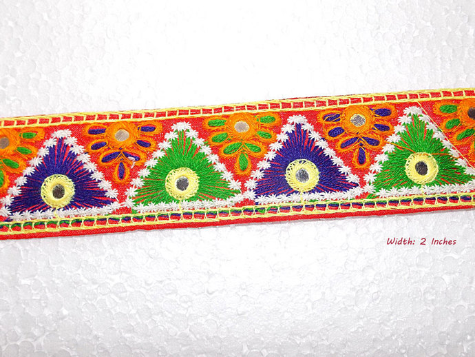 Cotton Handmade Multicolor Trim With By Indianlacesandfabric On Zibbet