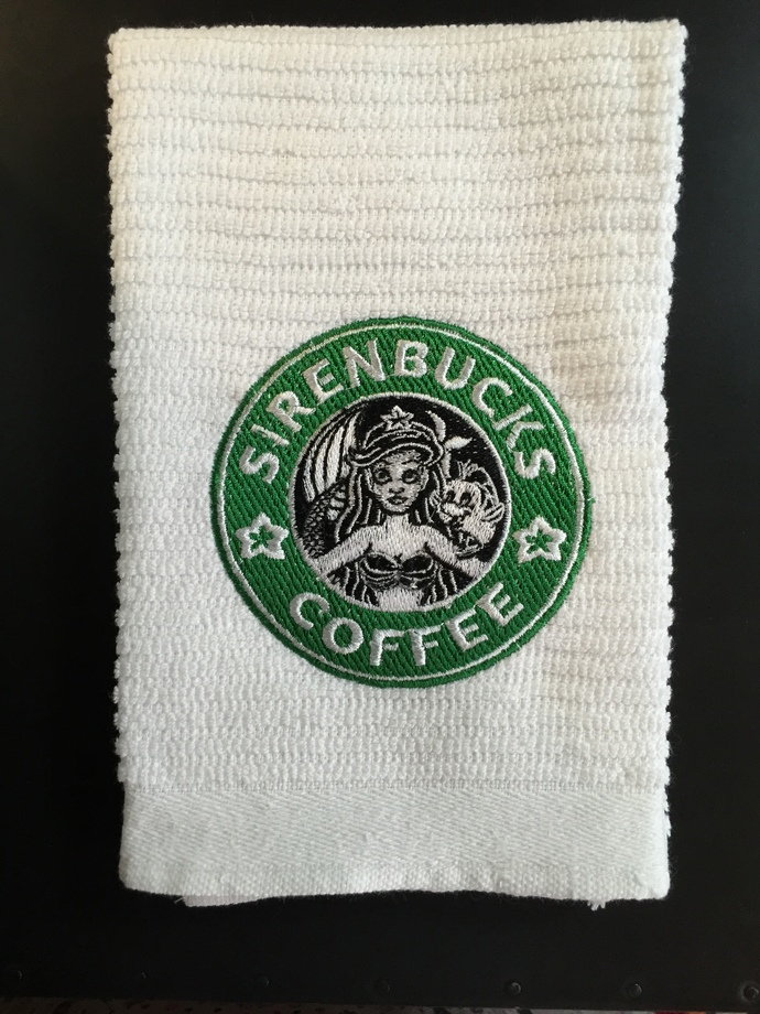 SIRENBUCKS COFFEE coffee bar towel