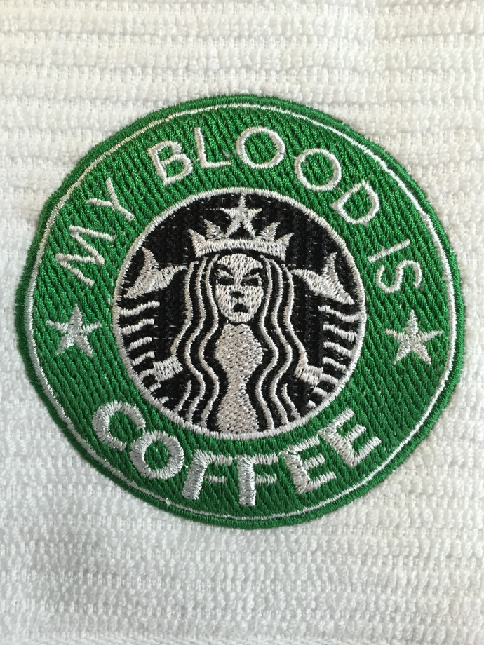 MY BLOOD IS COFFEE coffee bar towel