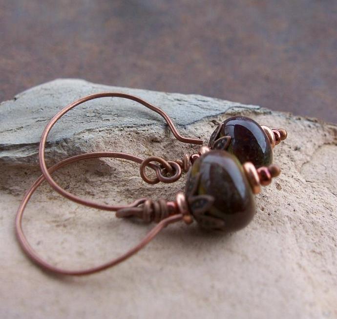Handmade  Lampwork Bead Earrings