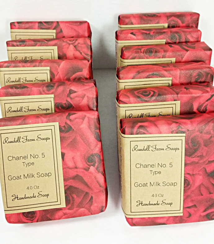 Chanel no. 5 Type. Goat milk soap. cold process,all natural