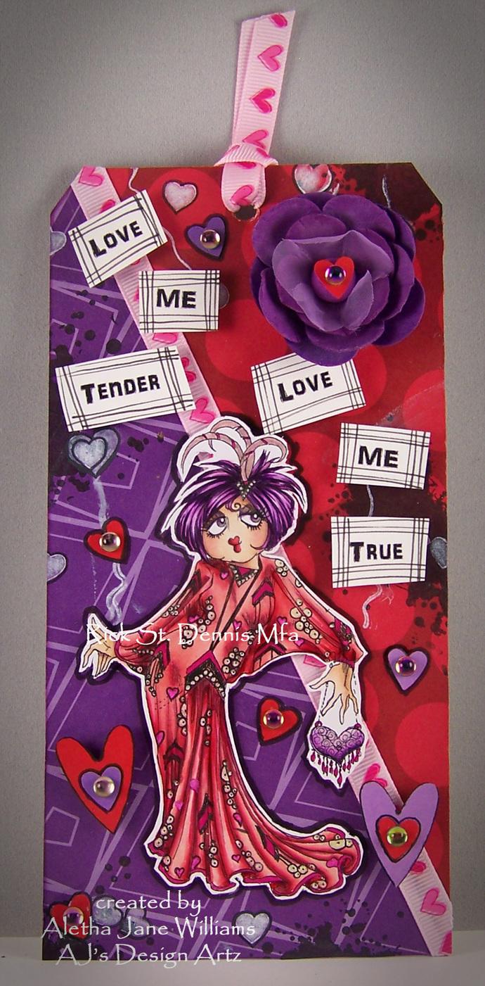 Helene Hartz Valentine Girl digi stamp