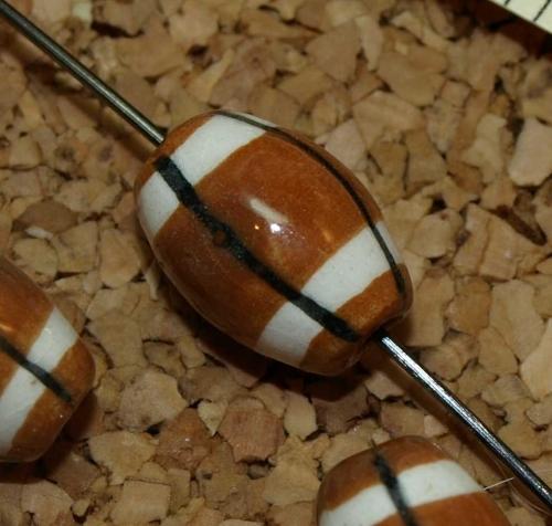 Football Ceramic Beads 8113