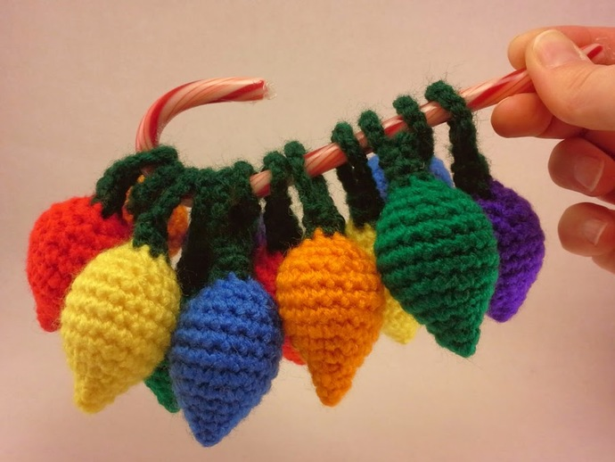 Individual Crocheted Holiday Lights - Customize them!