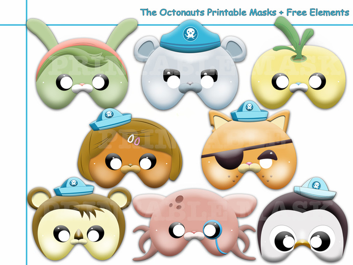 unique the octonauts printable masks by holidaypartystar on zibbet