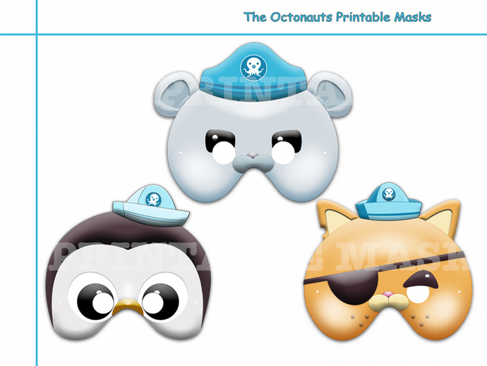 unique 3 the octonauts printable masks by holidaypartystar on zibbet