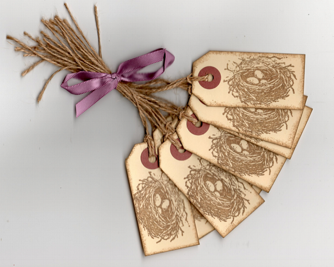 Bird Nest Hang/Gift Tags - Primitive Style
