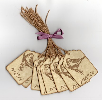 Bird Hang/Gift Tags - Vintage Primitive Style