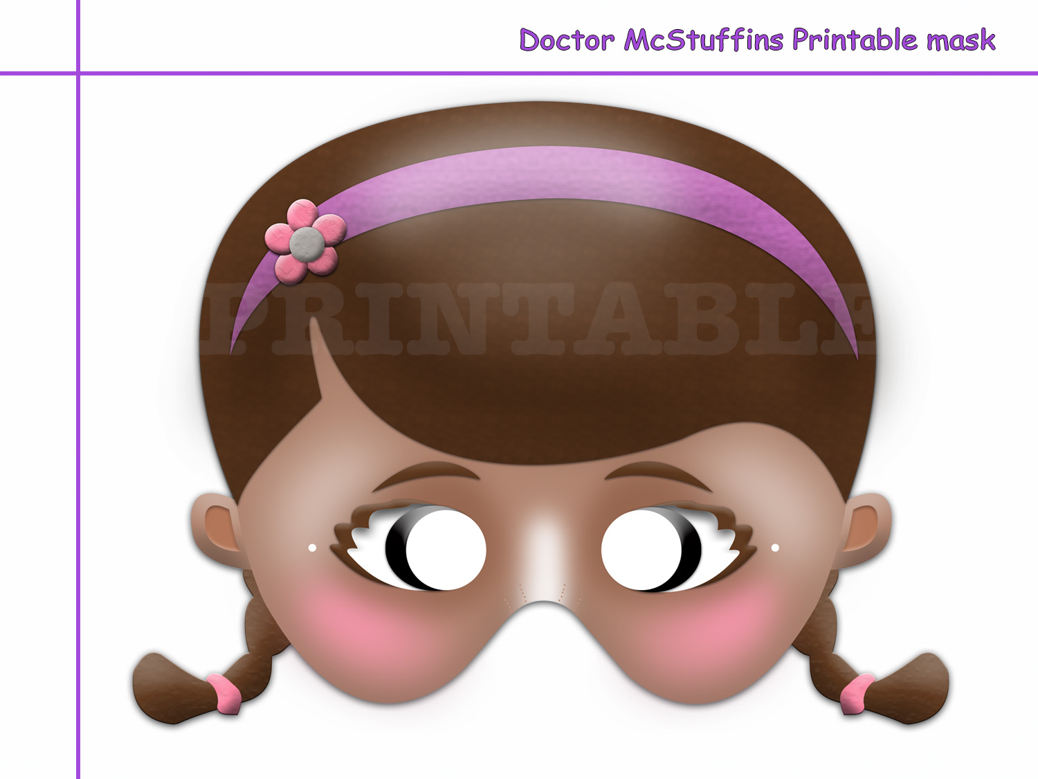 photo regarding Printable Doc Mcstuffins identify Distinctive Medical doctor McStuffins Printable Mask, celebration decoration, mask, Health practitioner, document masks, Disney, invitation, photograph booth props, small children, stuffing