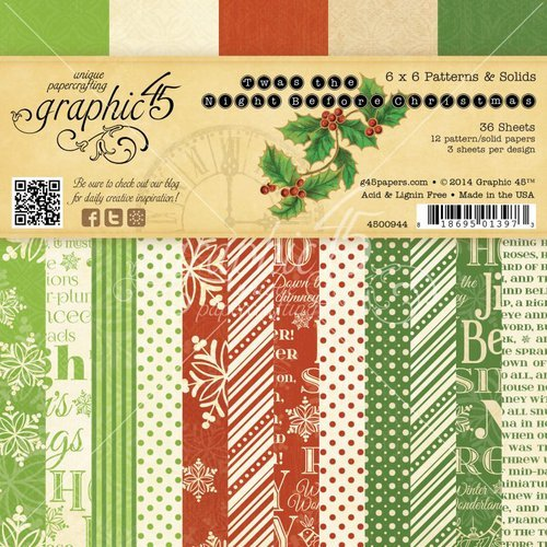 Graphic 45 Twas the Night Before Christmas 6x6 Paper Pad
