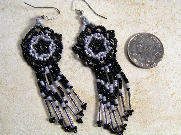 Mandala Star Basic Black DreamCatcher Earring