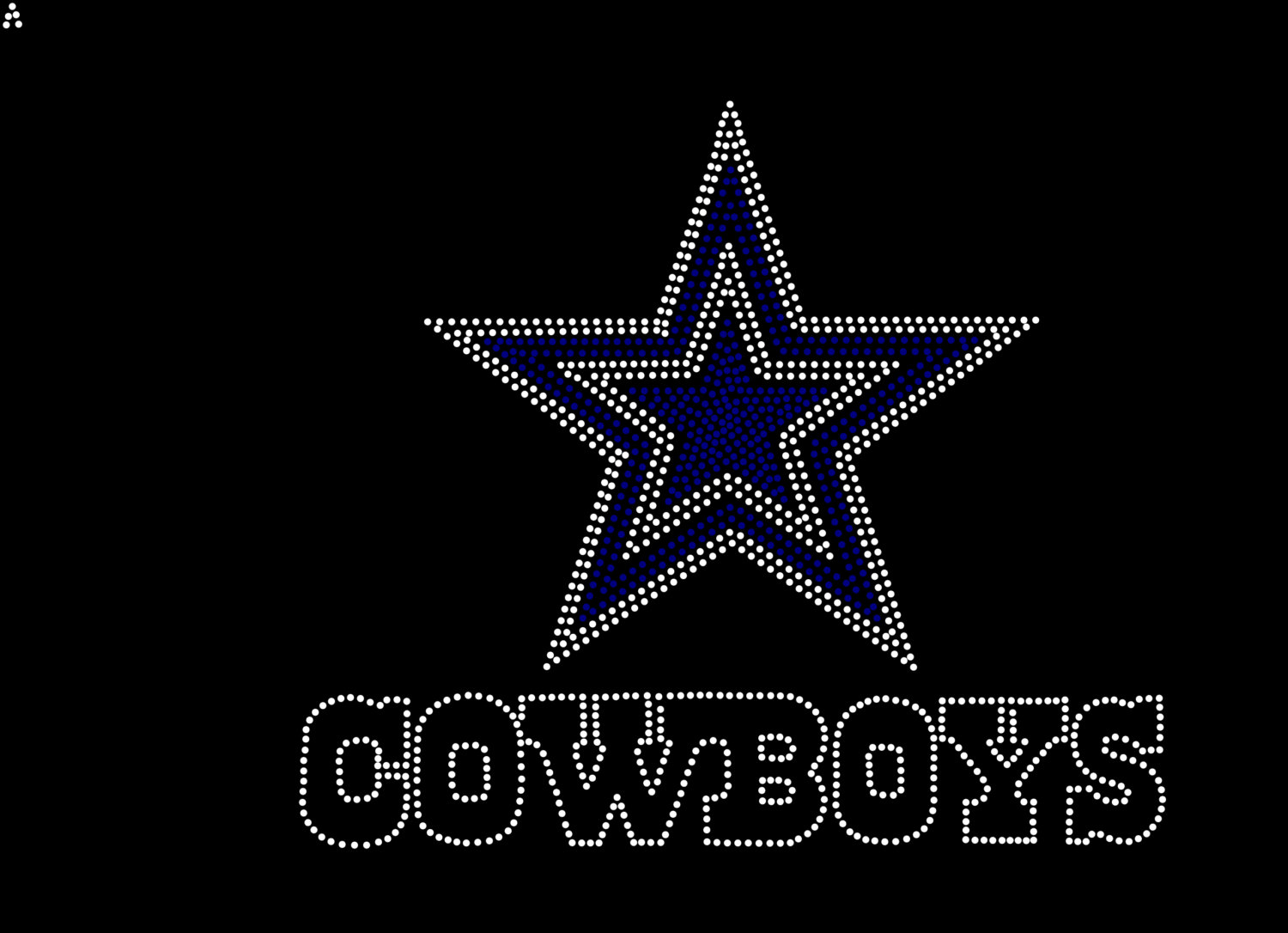 Dallas Cowboys Logo Rhinestone Killjoy Rhinestone Designs 6ac6cde66