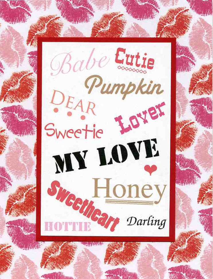 Sweet Valentine Card for Husband Wife by Kards by Kaylee on Zibbet