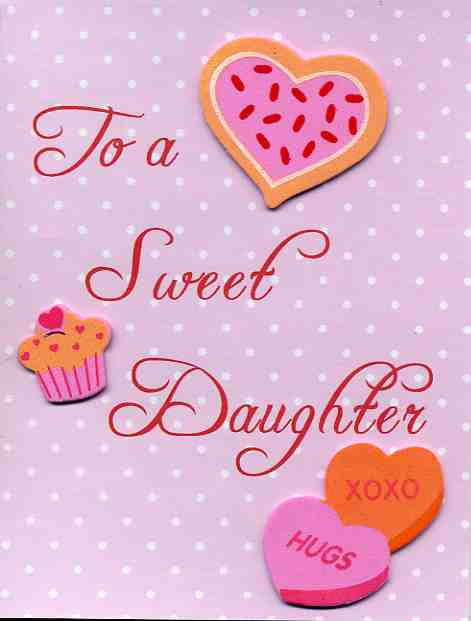 Valentine Card for Sweet Daughter by Kards by Kaylee on Zibbet
