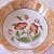 Antique Porcelain Serving Bowl Poppy Design