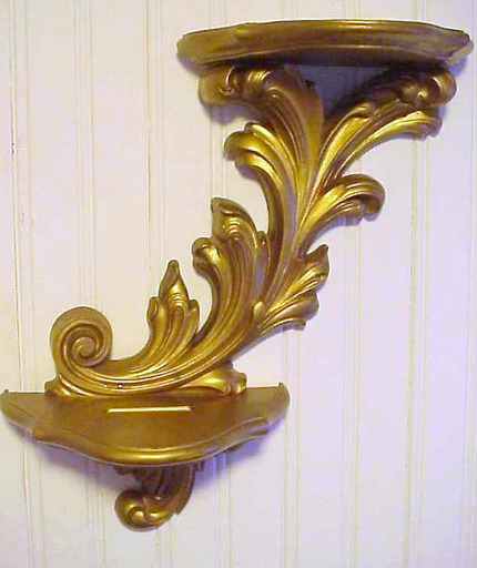 Vintage Golden Shelf French Chic FREE SHIPPING