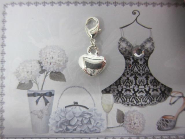 Royal Heart Charm - Silver
