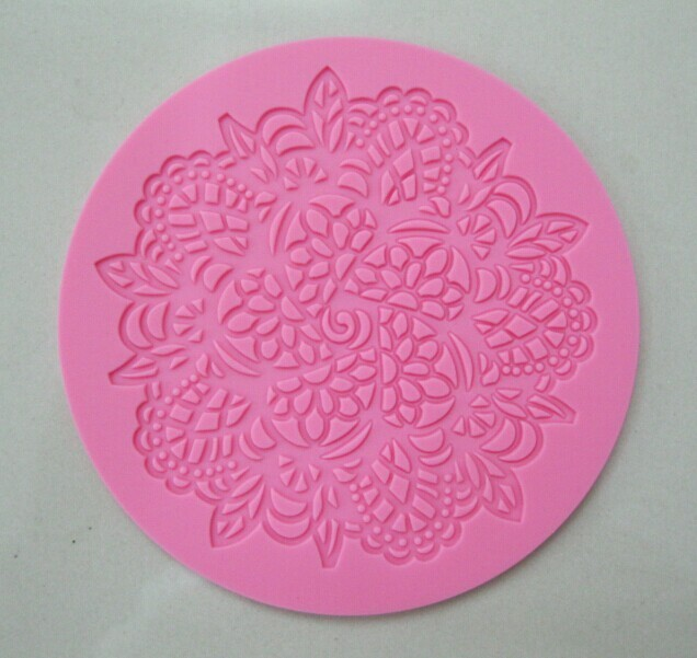 Snowflake Doily #3 Silicone Mold/Mould  - Pink
