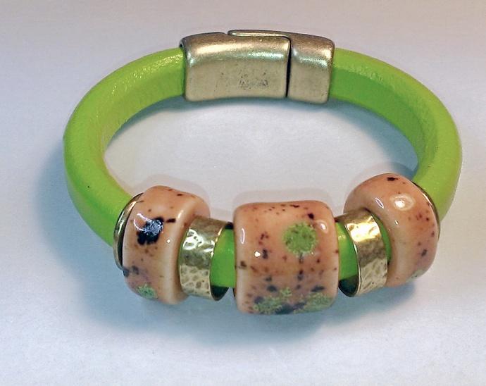 Regaliz Greek Leather Bracelet, Item #1460