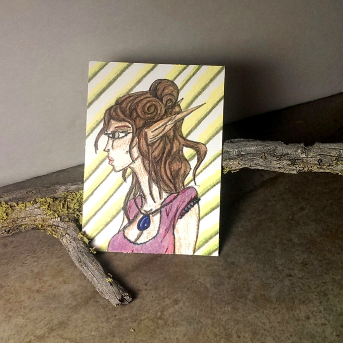 Lonely look ACEO 2.5 x 3.5 art print