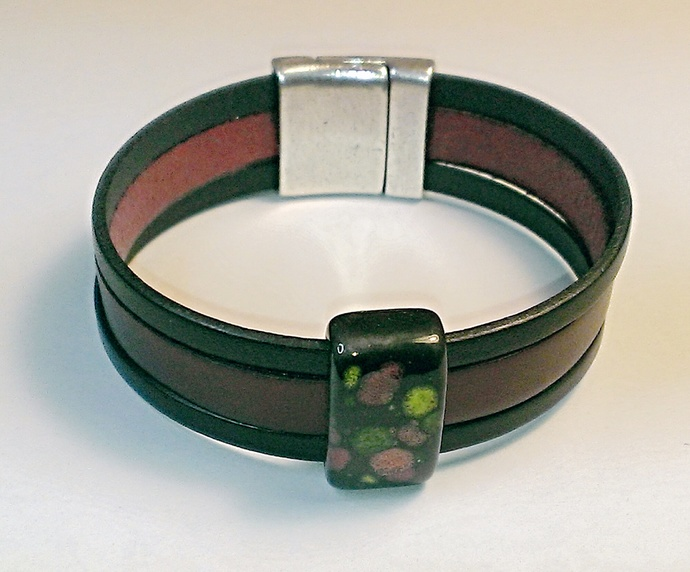 Euro Italian Leather Bracelet, Item #1461