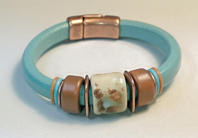 Regaliz Greek Leather Bracelet, Item #1465