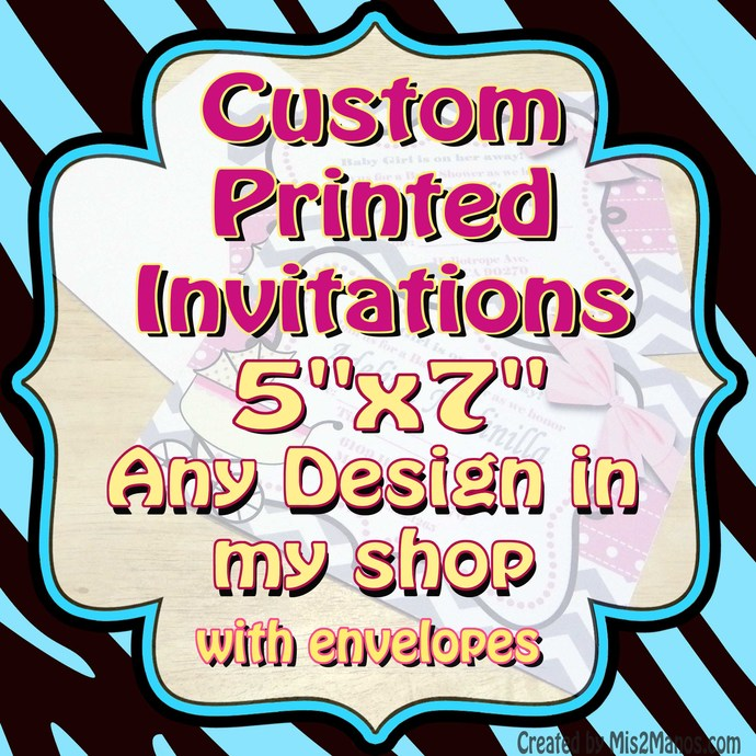 copy of custom printed invitations 1 laser by mis2manos on zibbet