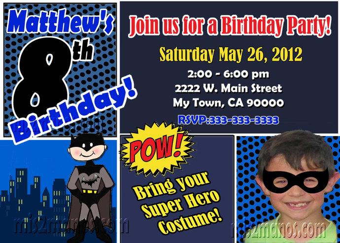 Batman Birthday Invitation