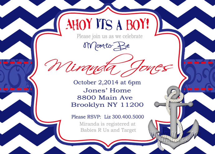 baby ahoy info boy templates mwbh nautical invitations a shower its