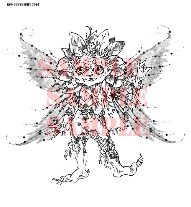 Mikey Mandrake 2015 Fairy Digital Stamp