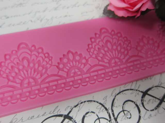 Fresh Flower Lace Silicone Mold/Mould  - Pink stl