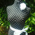 Black Polka dot Dress Form jewelry display stand. Mannequin torso designs home