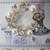 Rhinestone Crystal Pearl Heart Wreath Brooch Pin - White/Gold