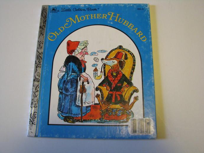 Vintage 1970 Little Golden Book - Old Mother Hubbard