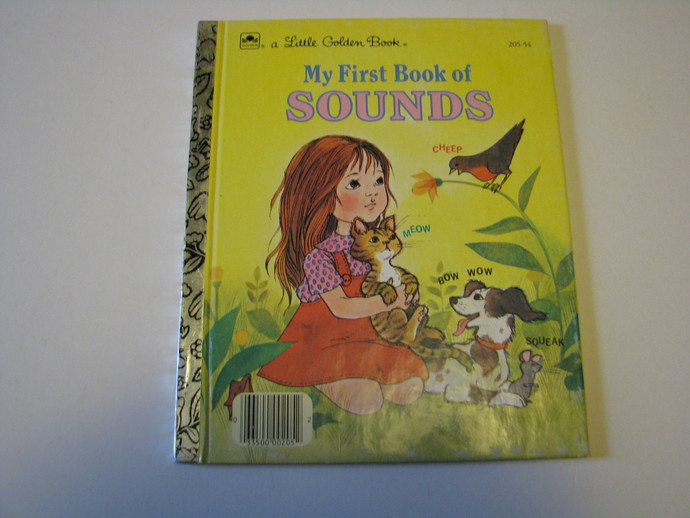 Vintage 1963 A Little Golden Book - My First Book of Sounds