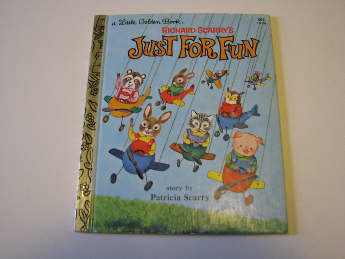 Vintage 1960 A Little Golden Book - Richard Scarry's Just for Fun by Patricia