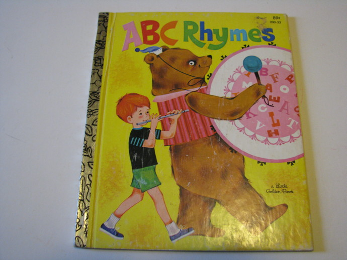 A Vintage 1982 Little Golden Book - ABC Rhymes pictures by Roland Rodegast and