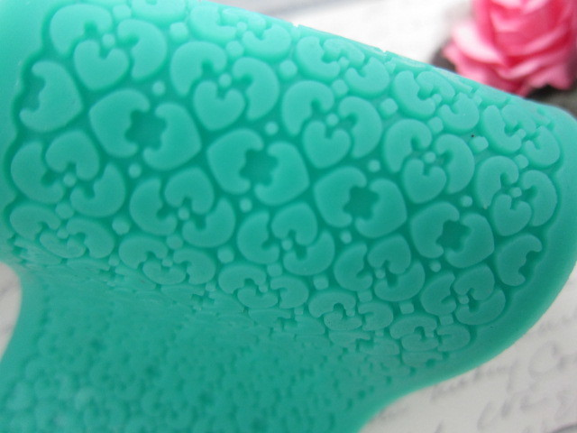 Flower Lace Silicone Mold/Mould  - Green stl