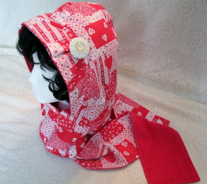 Hooded Scarf, boho clothing bohemian clothing rockabilly clothing pin up