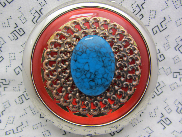 Compact Mirror Southwestern Comes With Protective Pouch