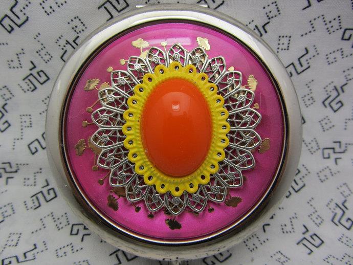 Compact Mirror Tutti Frutti Comes With Protective Pouch