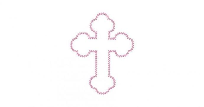 Celtic Cross Applique Machine Embroidery Design