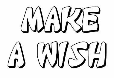 Make a Wish clear stamp