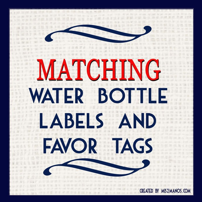 MATCHING Water Bottle Labels and Favor Tags - Add-On to any design in shop