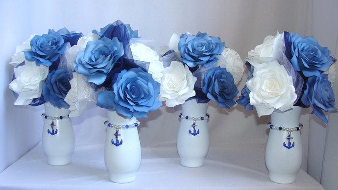 Anchor Centerpiece Navy Blue Wedding Centertwine