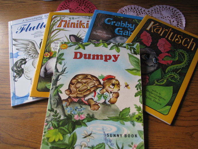 Collection of 4 Serendipity books by Steven Cosgrove - illustrated Robin James-