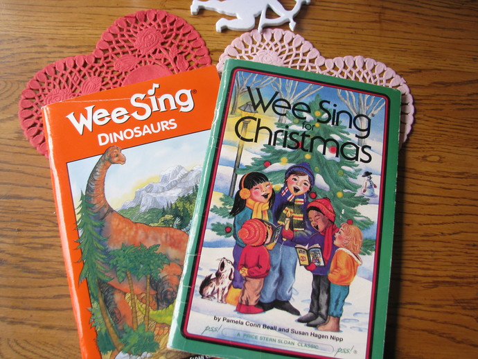 Wee Sing Book Collection- Wee Sing for Christmas and Wee Sing Dinosaurs