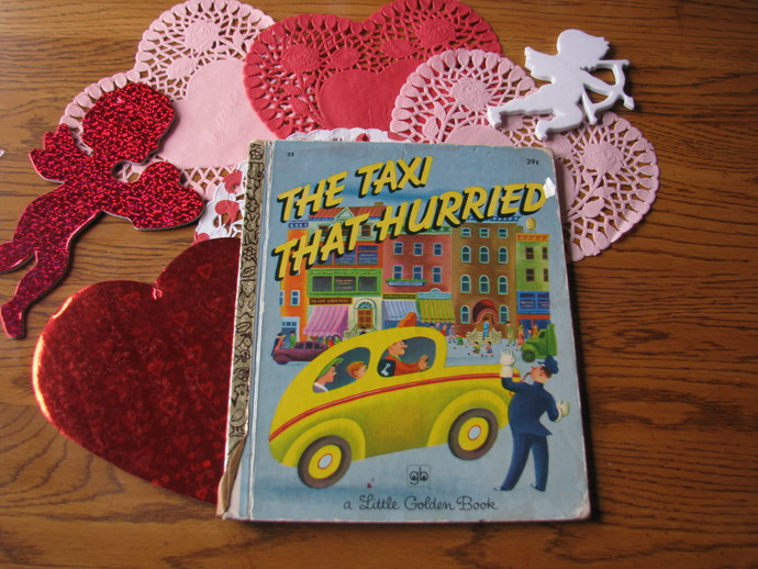 Vintage Little Golden Book- The Taxi that Hurried
