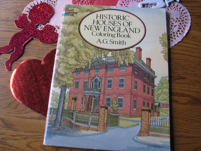 Dover Coloring Book- Historic Houses of New by ScrapPantry on Zibbet