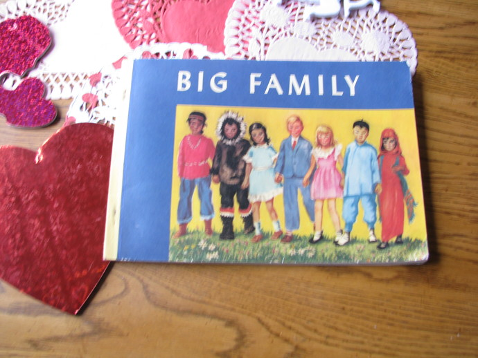 Vintage 1940 Children's Book- Big Family by Alice Geer Kelsey- printed in the